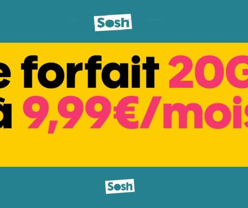 Abonnement forfait mobile SOSH 20Go