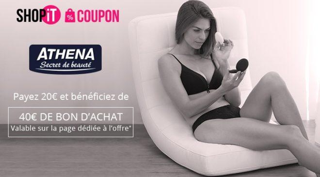 Bon d'achat Athena moitié prix - collection Athena Secret de Beauté