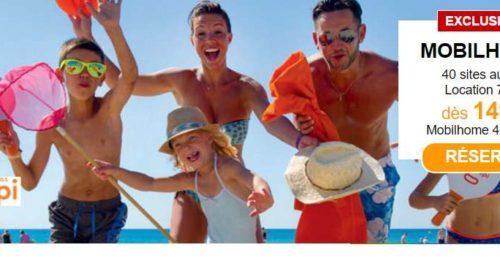 Bon plan Vacances 149 euros le séjour 7 nuits en Mobile-home