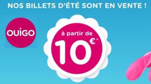 Bon plan Vente Billet TGV Ouigo