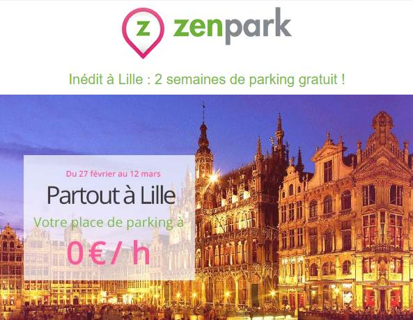 Bon plan parkings gratuits à Lille par ZenPark