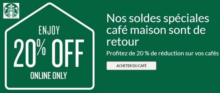 Boutique Starbucks : 20% de remise sur les cafés