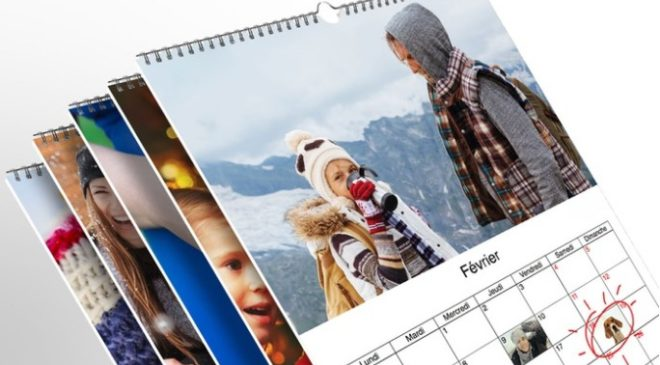 Calendrier photo format A4 à seulement 2,95 €