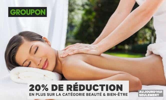 Code promo Beaute et Bien Etre Groupon