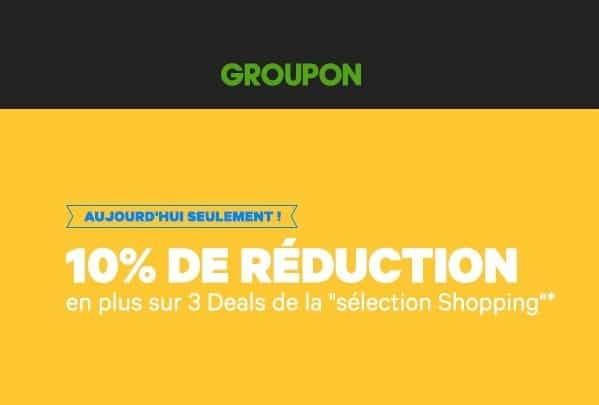 Code promo Groupon Shopping