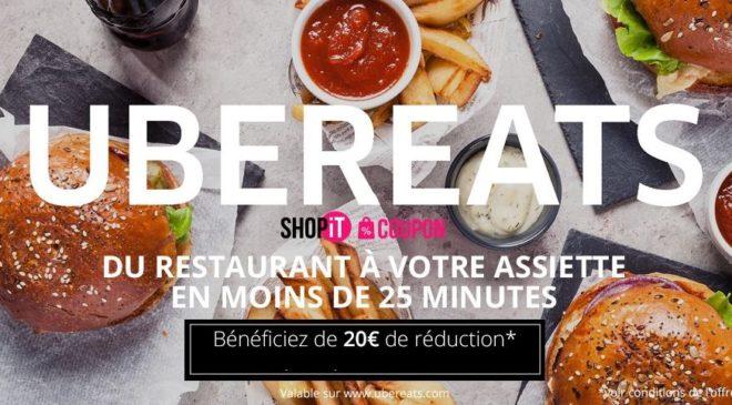 Coupon UberEATS : 20€ de remise