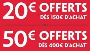 Darty 20€ offerts en carte cadeau ou 50€