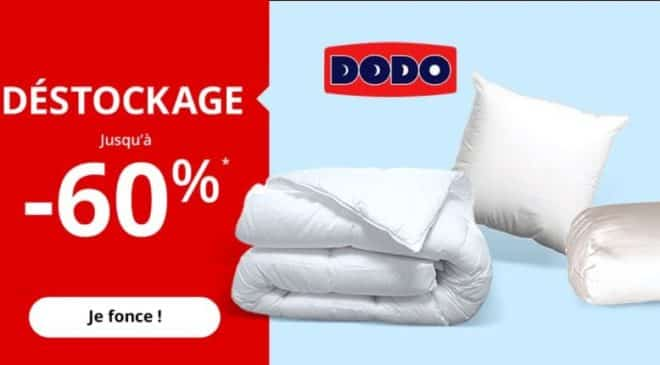 D stockage dodo jusqu 60 sur plus de 70 articles auchan - Destockage couette dodo ...