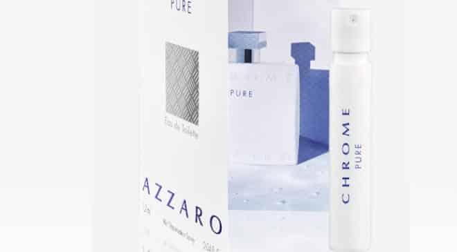 Echantillon gratuit parfum homme Chrome Pure de Azzaro