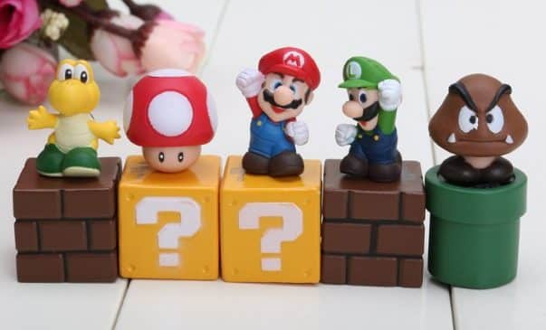 Ensemble de 5 figurines Super Mario à gagner
