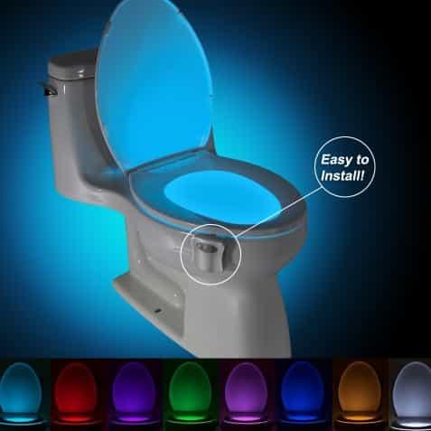 Gadget pas cher 2,74€ lampe pour toilette