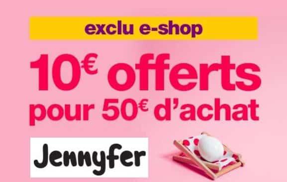 Jennyfer qui offre 10€ de remises dès 50€ d'achats