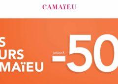 Les jours Camaïeu ! Remise allant jusqu'à 50%