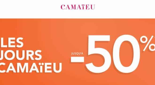 Les jours Camaieu Remise allant jusqu'a 50%