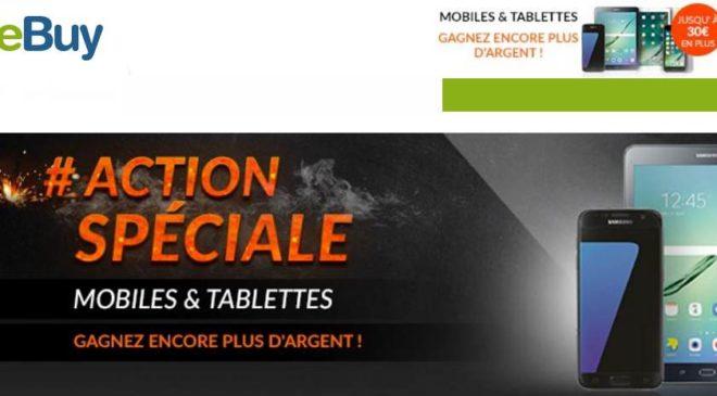 Offre spéciale rachat de smartphone et tablette sur reBuy