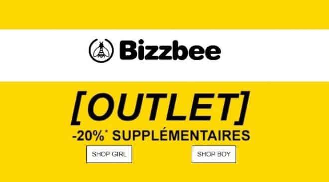 Outlet Bizzbee 20% supplémentaire