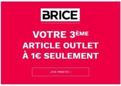 Outlet Brice : 2 achetés = le troisième à 1 euro