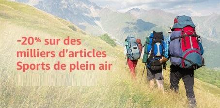 Plein Air Amazon -20% sur des milliers d'articles