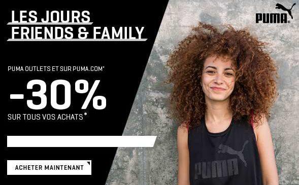 Remise de 30% sur tout le site PUMA