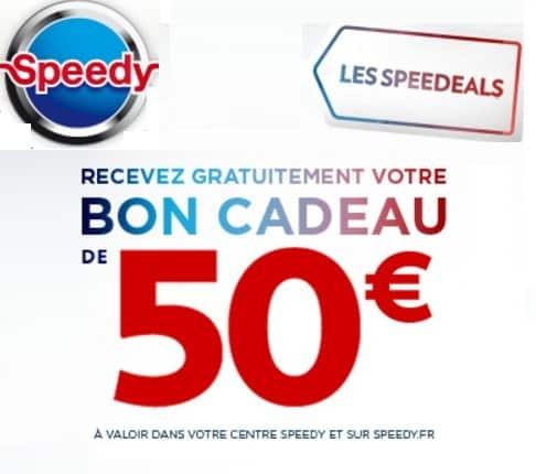 Remise immédiate de 50€ chez Speedy