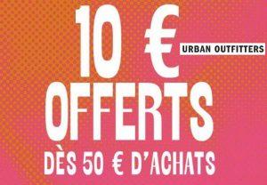 Urban Outfitters : remise de 10€ dès 50€
