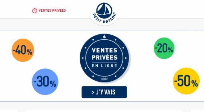 Vente privée Petit Bateau en ligne