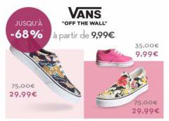 Vente privée Vans : chaussures Vans pas chères (entre 15€ et 29€) + livraison gratuite 🚚 + 5€ de remise