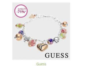 Vente privée bijoux Guess : bijoux à partir de 10€
