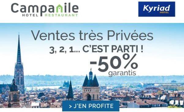 Ventes Privées Hotels Campanile Kyriad Premiere classe