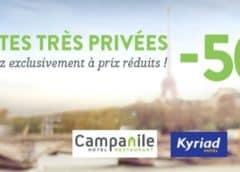 Ventes Privées Hôtels : -50% sur Campanile, -50% sur Kyriad & -40% sur Première classe 🏨
