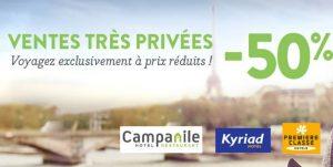 Ventes Privées Hôtels Campanile Kyriad Première classe