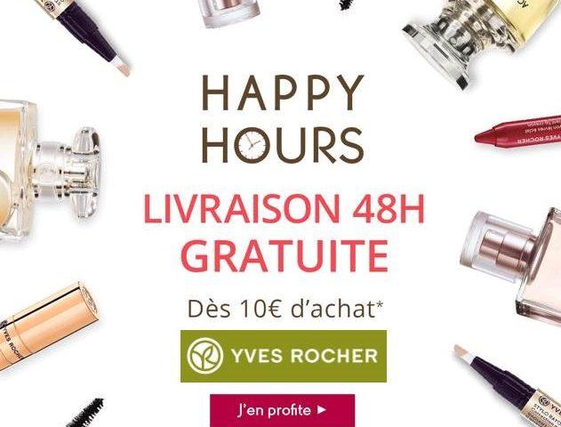Yves Rocher : livraison 48h gratuite