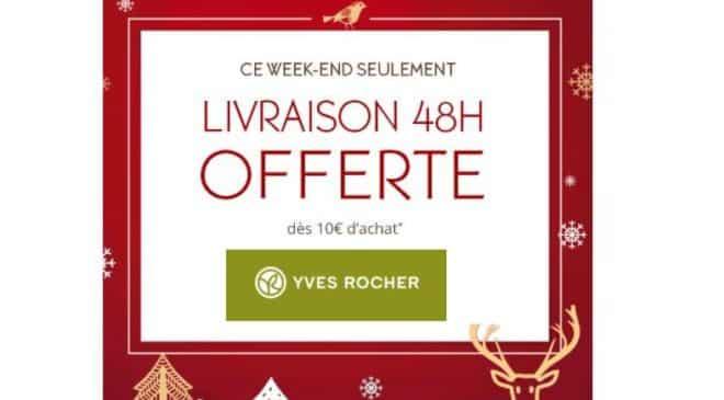 Yves Rocher livraison 48h gratuite dès 10€