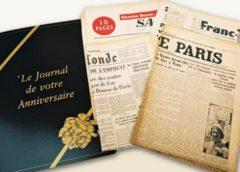 Journal du jour de sa naissance : 12,5 euros le bon d'achat de 25 euros (ou 15 les 30€)