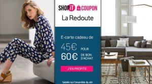 carte cadeau La Redoute 45€ les 60€ d'achats
