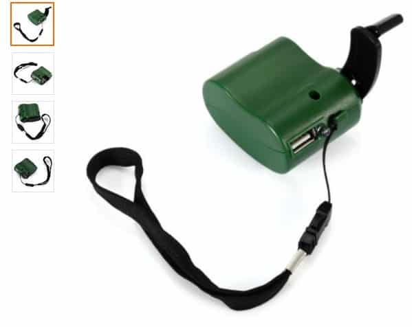 chargeur manuel USB à 2,40€ port inclus