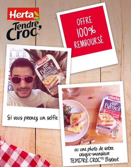 croque-monsieur Herta GRATUIT (Tendre Croc' Bistro)