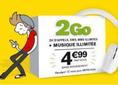 4,99€ le forfait La Poste Mobile 2Go, musique illimitée, 2h appel, SMS/MMS illimités