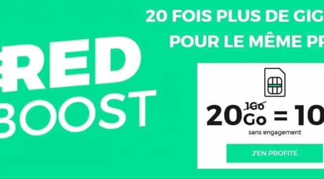 forfait RED 20Go illimite 10€