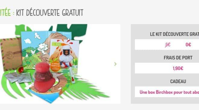 kit créatif enfant Pandacraft + 1 Birchbox gratuite