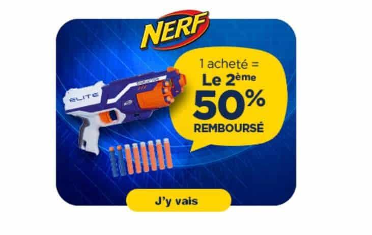 le deuxième Nerf 50% remboursé