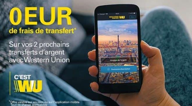0€ de frais d'envoi transferts d'argent avec Western Union