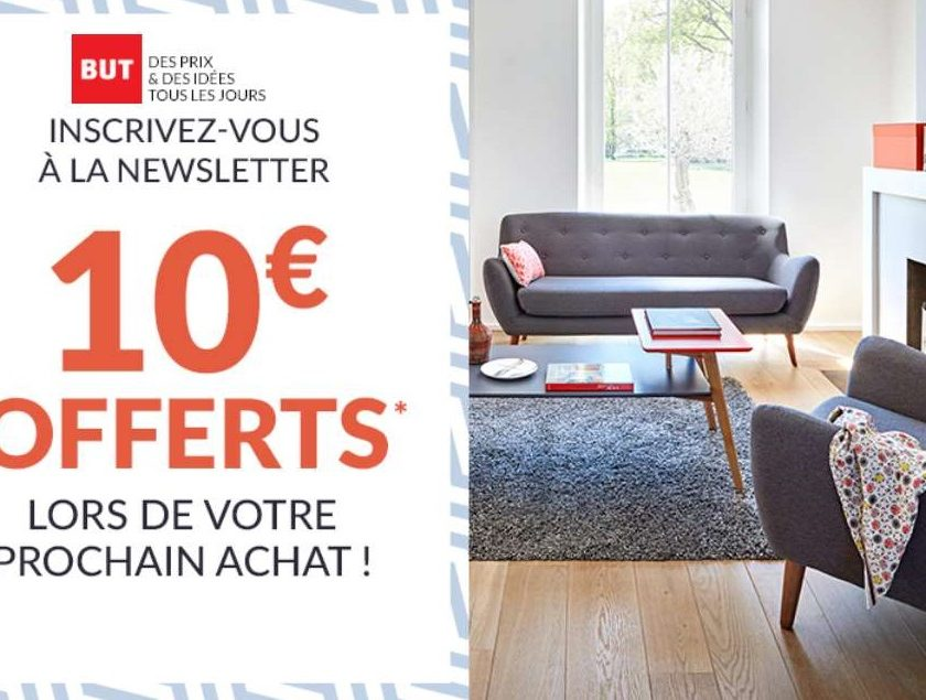10€ offerts à partir de 50€ sur BUT