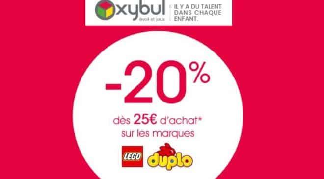 20% de remise sur Lego et Duplo sur Oxybul