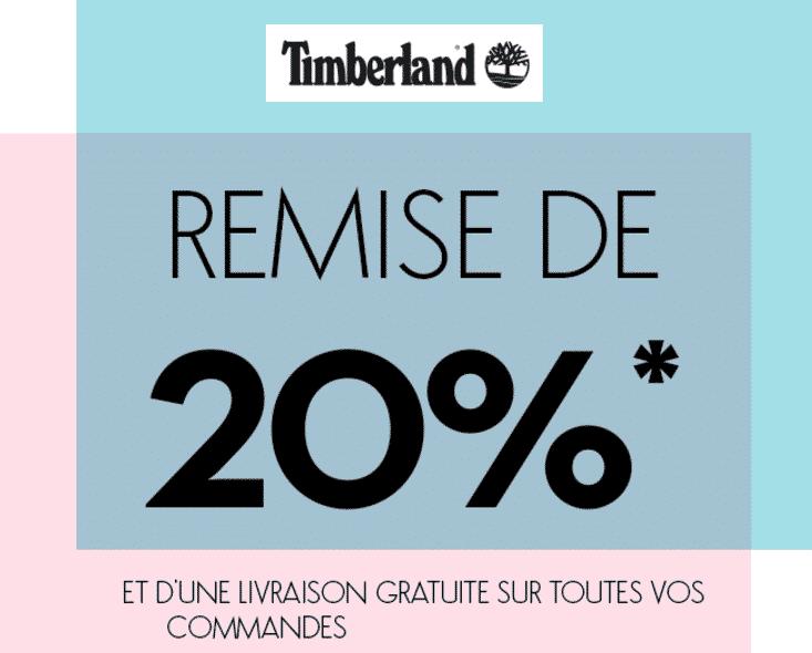 20% de remise sur Timberland