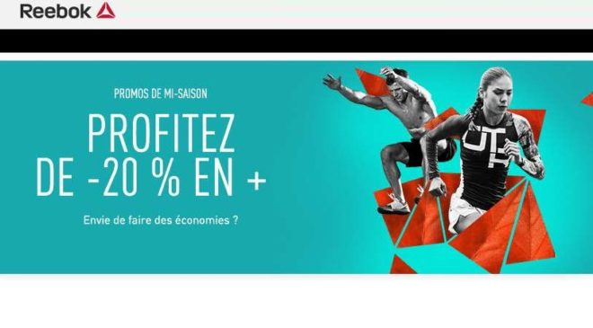20% en plus Outlet Reebok