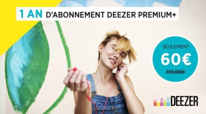 Abonnement Deezer Premium+ à -50%