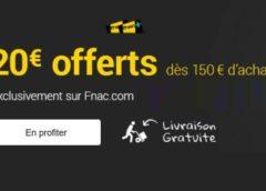 BON PLAN : 20€ offerts sur FNAC dès 150€ (Fnac Adhérents) – livraison gratuite 🚚