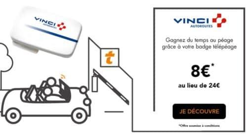 Badge Telepeage Vinci a 8€