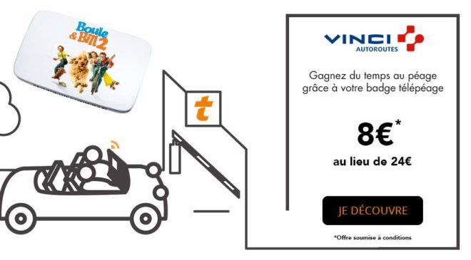 Badge Télépéage Vinci à 8€ l'année au lieu de 24€
